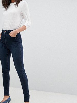 Asos Tall Mörkblå jeans i sculpt me-modell med hög midja Mörkblå