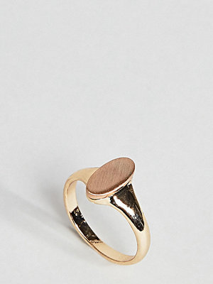 ASOS Curve Brushed Metal Oval Pinky Ring