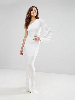 Club L One Shoulder Slinky Fishtail Maxi Dress