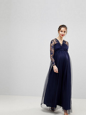 ASOS Maternity Lace Maxi Dress with Long Sleeves