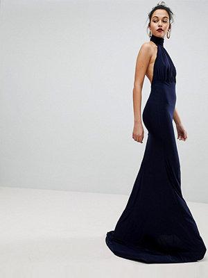 Club L Bridesmaid Halterneck High Neck Fishtail Maxi Dress