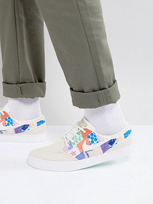 Nike Sb Stefan Janoski Quilt Pack Trainers In White 333824-119