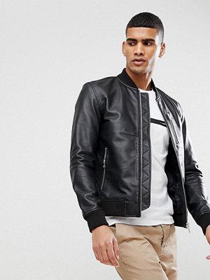 Skinnjackor - Selected Homme Leather Bomber
