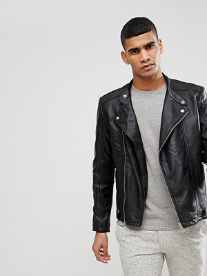Skinnjackor - Selected Homme Leather Jacket