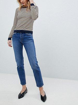 Monki Enfärgade jeans med raka ben