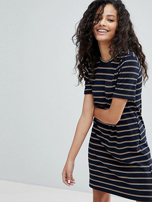 Bershka Short Sleeve Stripe Mini Dress