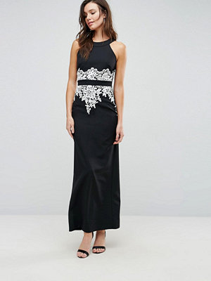 Paper Dolls Halter Maxi Dress With Floral Detail