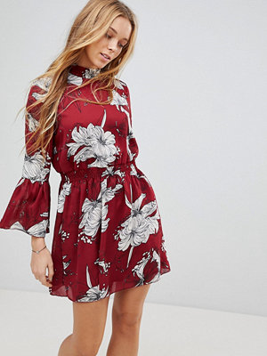 Parisian High Neck Floral Printed Dress