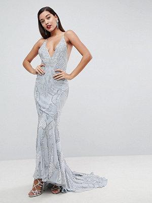 ASOS Edition Heavily Embellished Cami Strap Maxi Dress - Light blue