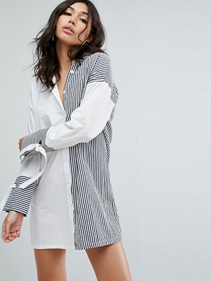Boohoo Mix Stripe Shirt Dress