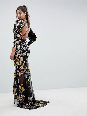 ASOS Edition Backless Maxi Dress With Beautiful Embroidery
