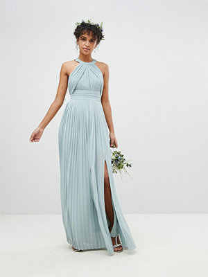 TFNC Pleated Maxi Bridesmaid Dress