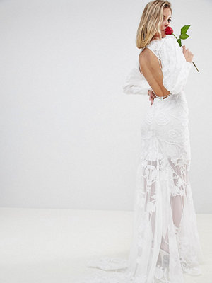 ASOS Edition backless maxi wedding dress with beautiful embroidery