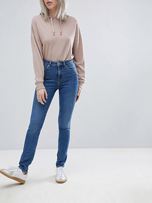 Weekday Thursday Skinny jeans med hög midja Arizona blue