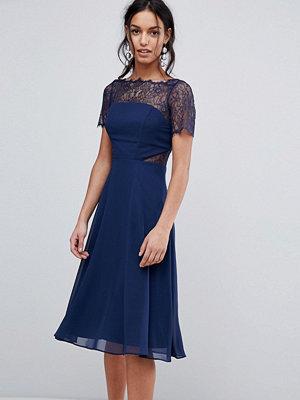 ASOS Lace Insert Panelled Midi Dress