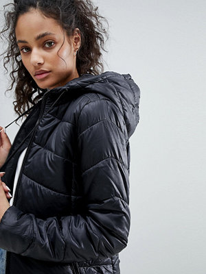 Bershka Puffer Jacket With Hood