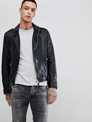 Skinnjackor - AllSaints Leather Biker Jacket