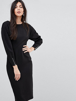 Asos Tall Long Sleeve Midi Pencil Dress