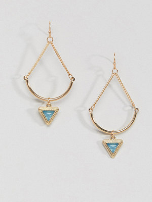 ASOS örhängen Curved Bar and Triangle Stone Earrings