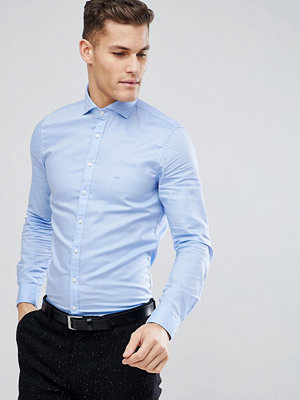 Michael Kors Slim Smart Oxford Shirt In Pale Blue