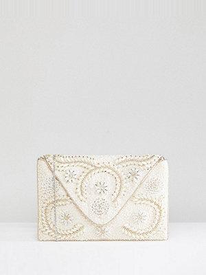 Amelia Rose kuvertväska Embellished Clutch Bag With Chain Strap