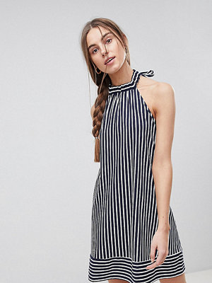 Asos Tall Halter Swing Sundress in Cut About Stripe