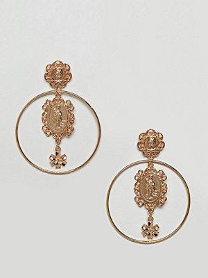 Reclaimed Vintage örhängen inspired charm hoop earrings