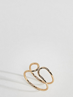ASOS Curve Tapered End Double Row Ring
