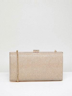 Coast kuvertväska Gold Glitter Box Clutch Bag