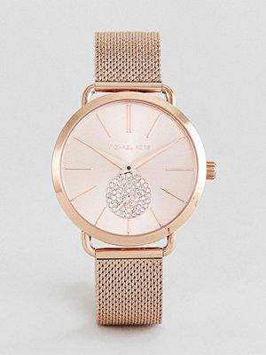 Michael Kors MK3845 Portia Mesh Watch In Rose Gold 37mm