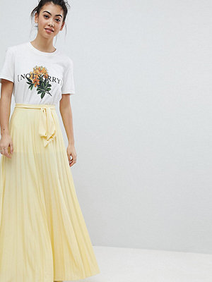ASOS Petite Pleated Maxi Skirt with Belt