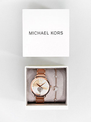 Michael Kors MK3827 Portia Bracelet Watch & Bracelet Gift Set