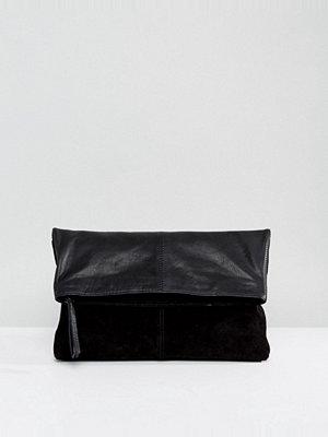 ASOS kuvertväska Leather Soft Foldover Clutch Bag