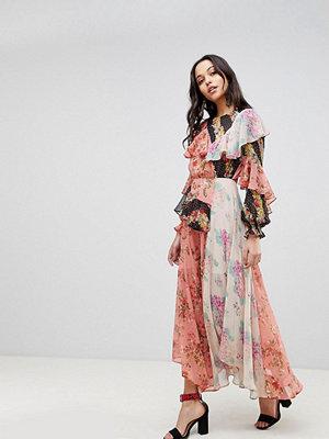 ASOS Deconstructed Maxi Dress in Mismatch Floral Print - Floral print