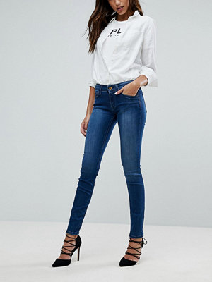 Replay Luz Mid Rise Skinny Jean - Midwash blue