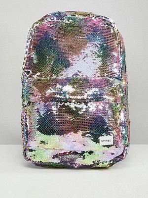 Spiral ryggsäck Rainbow Sequins Backpack