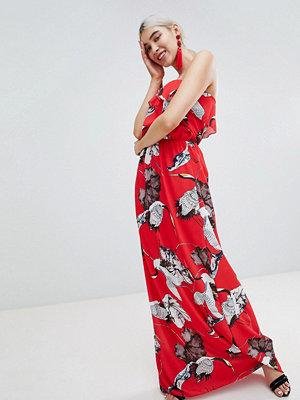 PrettyLittleThing Bird Print Maxi Dress