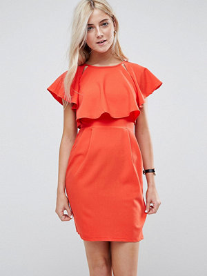 ASOS Double Layer Mini Wiggle Dress with Angel Sleeve