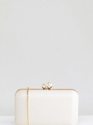 True Decadence kuvertväska Box Clutch Bag With Pearl Fastening