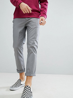 ASOS Slim Cropped Chinos In Grey