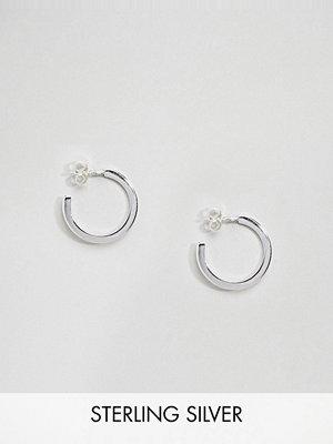 Weekday örhängen Sterling Silver Element Hoop Earrings