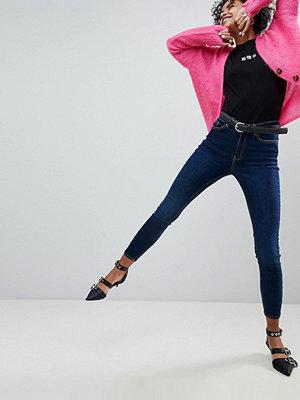 New Look Dahlia Mörkblå jeans med extra smal passform