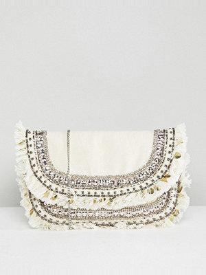 New Look kuvertväska Embroidered Clutch Bag