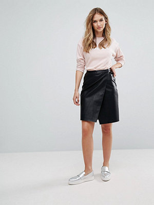 Vero Moda Faux Leather Wrap Skirt
