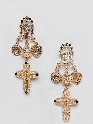 Reclaimed Vintage örhängen Inspired Baroque Cross Earrings