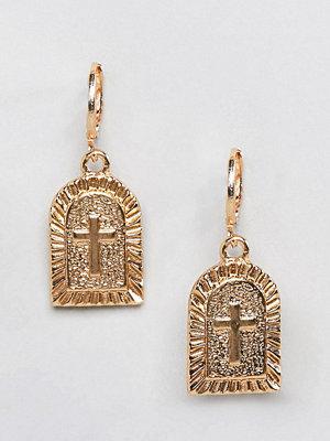 Reclaimed Vintage örhängen Inspired Cross Charm Earrings