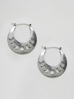 ASOS örhängen DESIGN Cut Out Moon Phase Hoop Earrings