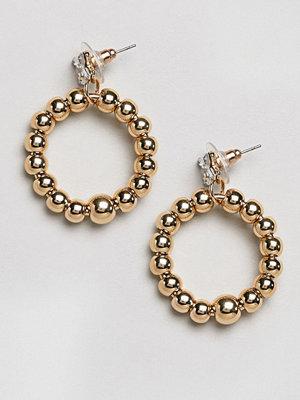 DesignB London örhängen Gold Hoop Bead Earrings