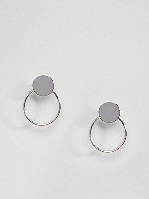 DesignB London örhängen Sterling Silver Double Circle Earrings
