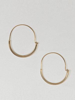 ASOS örhängen Gold Plated Sterling Silver Sleek Tube Hoop Earrings